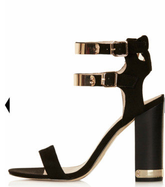 shoes black gold buckles heels
