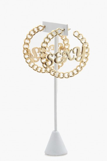 LoveMelrose.com From Harry & Molly | SEXY Circle Earrings - Gold