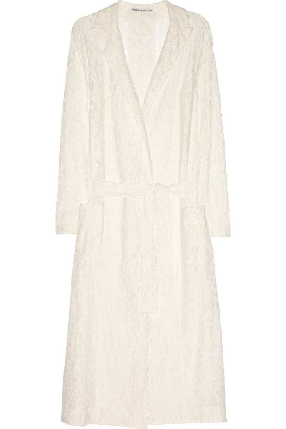 Belted cotton-lace trench coat | Alessandra Rich | THE OUTNET