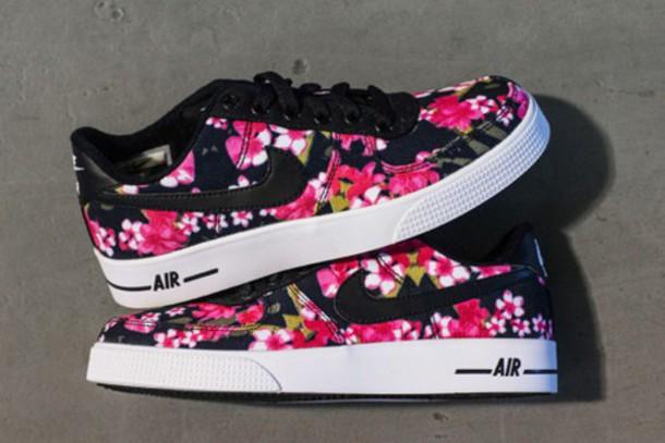 shoes sneakers flowers nike air force nike