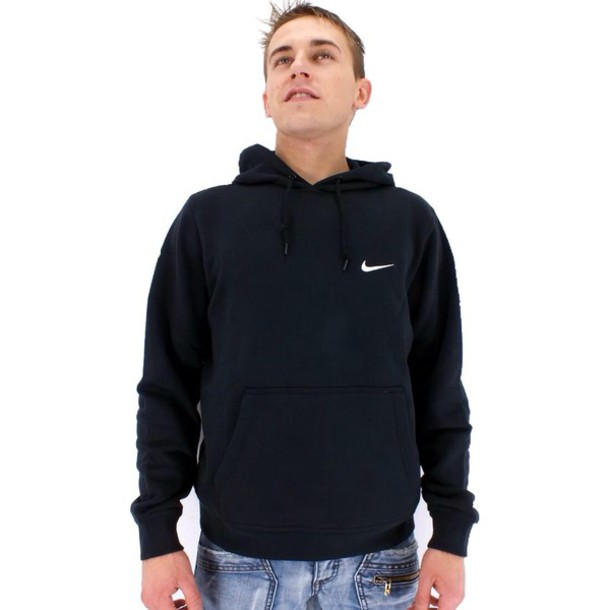 Images of Mens Black Hoodie - Reikian