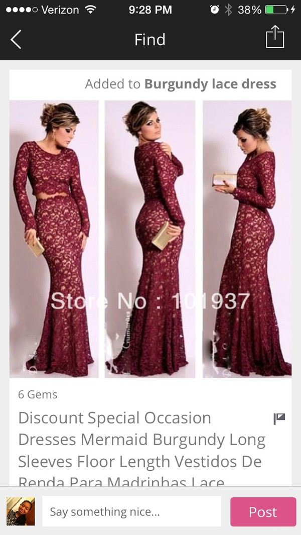 dress red red dress formal homecoming long lace dress long prom dress burgundy