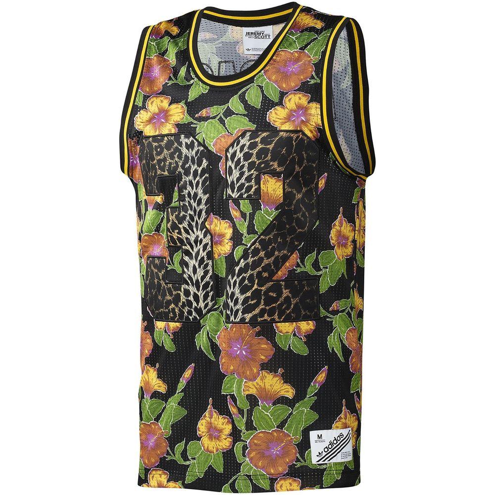 Adidas Originals ObyO Jeremy Scott JS Flower F50869 Leopard Tropical 32 Tank Top