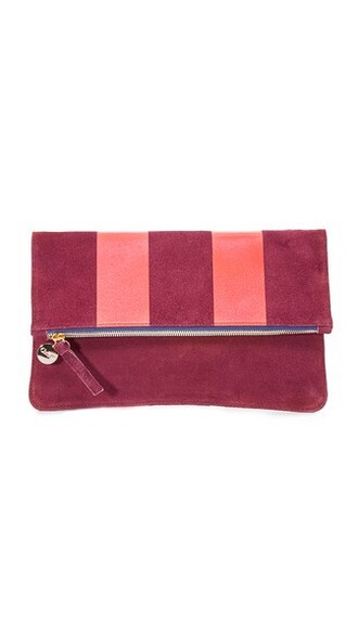 clutch oxblood red bag