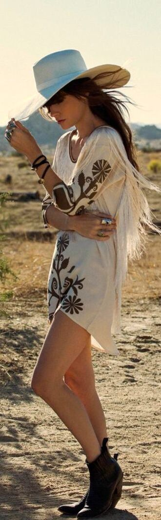 shirt country dress fringed top top boho country style country dress fringes boho chic boho dress hippie hippie chic hippie dress embroidered embroidered dress summer summer dress summer outfits