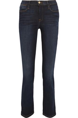 jeans denim cropped high dark