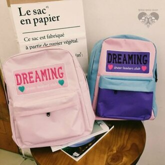 bag dreaming girly kawaii trendy it girl shop cool backpack pastel pastel goth pretty pastel pink japan vintage hipster