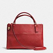Turnlock borough bag in pebble leather