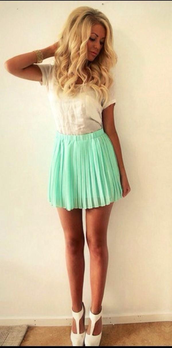 skirt mint green skirt tumblr girl gorgeous cute tumblr clothes