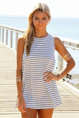striped dress www.ustrendy.com sleeveless dress gray and white dress gray and white stripes tank dress