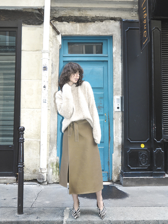 a portable package blogger sweater skirt shoes