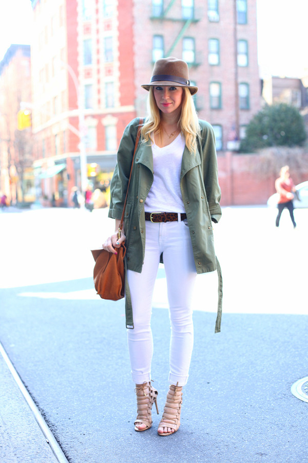 brooklyn blonde jacket jeans t-shirt shoes hat bag belt jewels