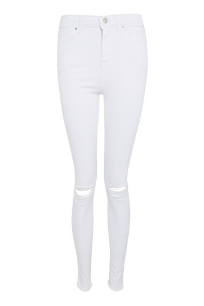 Topshop jeans ripped white