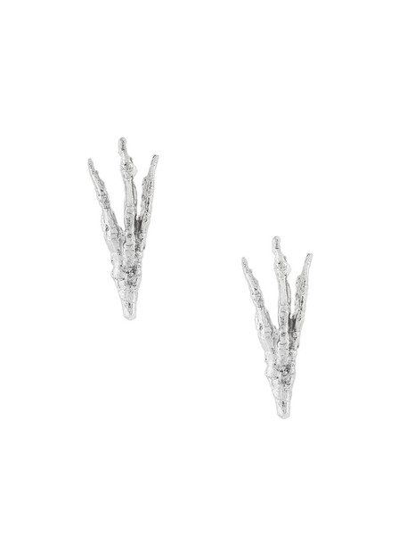 Wouters & Hendrix Gold women earrings gold white grey metallic jewels
