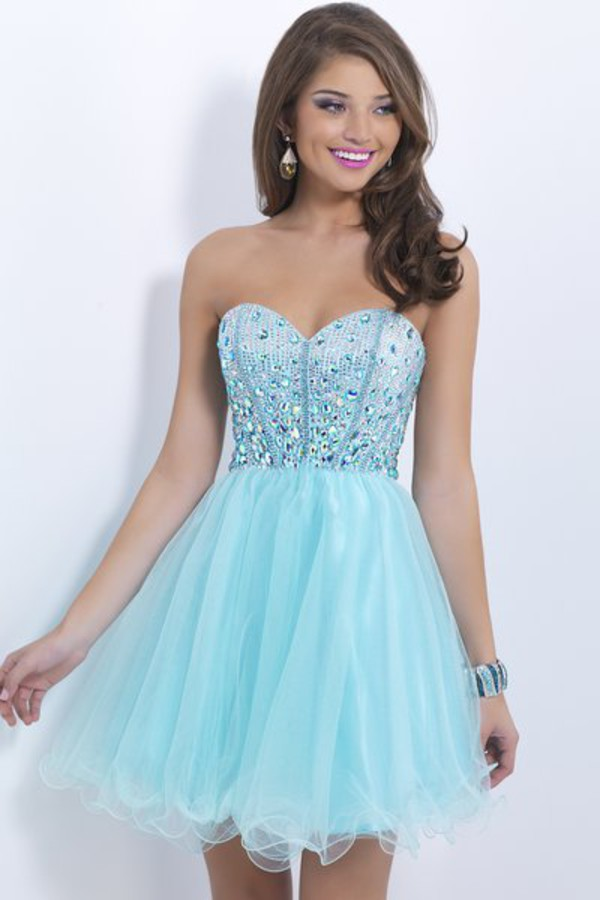 blue dress cocktail dress homecoming dress 2014 party dress short dress cheap party dresses