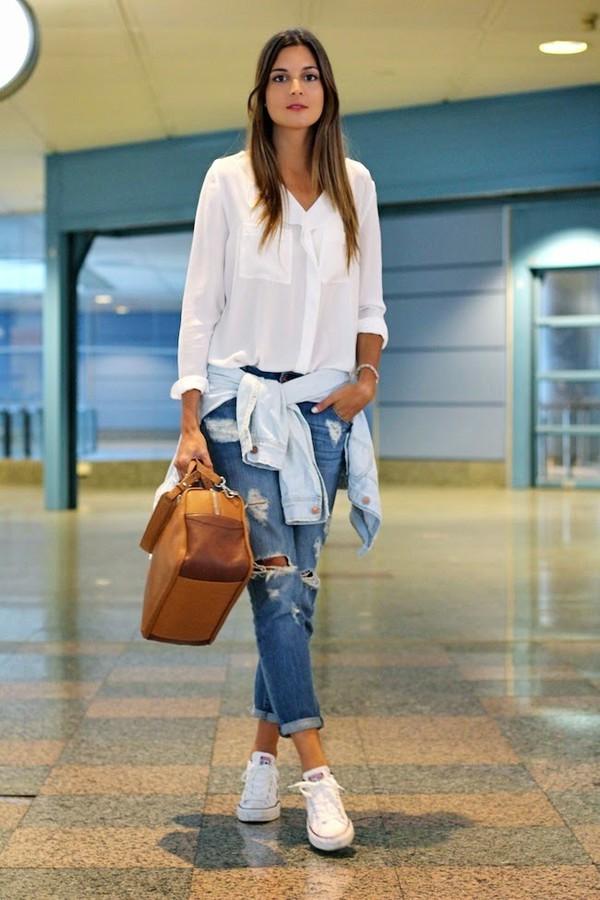 marilyn's closet blog blouse jeans bag shoes jacket