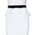 ROMWE | White Bandeau Peplum Dress, The Latest Street Fashion