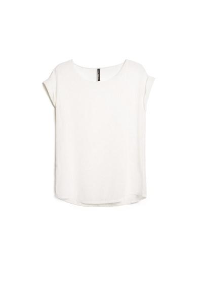 polka-dot flocked blouse