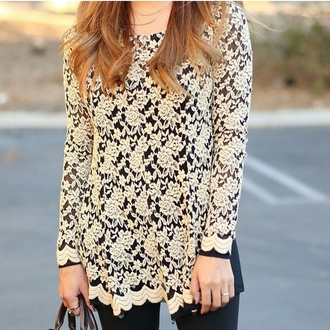 blouse lace top embroidered black top gold design long sleeves dressy tops dulce candy lace design gold embroidered black blouse