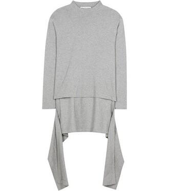 sweater cotton grey