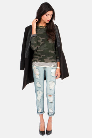 Cool Distressed Jeans - Boyfriend Jeans - Destroyed Jeans - $61.00