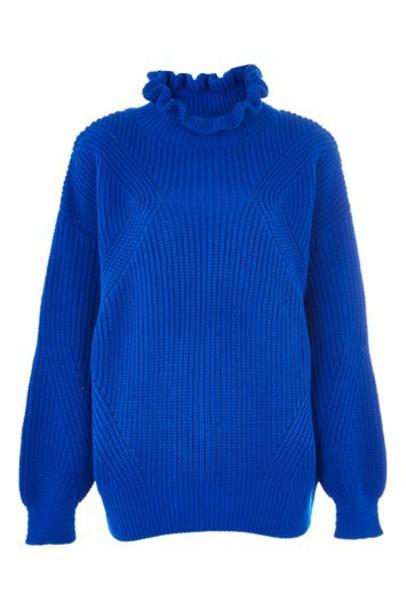 Topshop jumper long blue sweater
