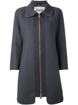 coat zip grey