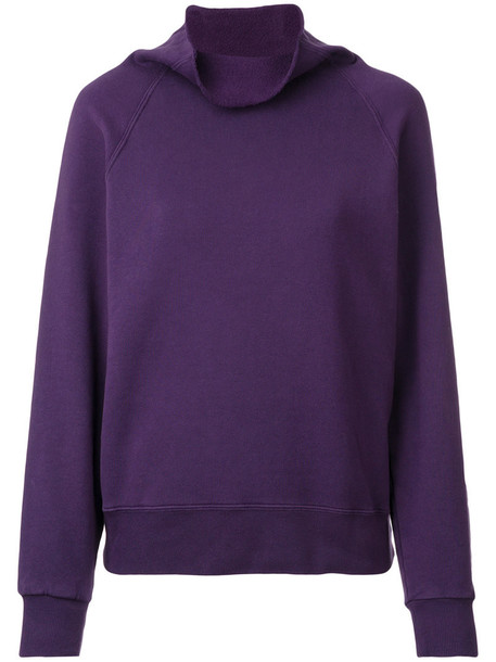Golden Goose Deluxe Brand - cowl-neck sweater - women - Cotton - M, Pink/Purple, Cotton
