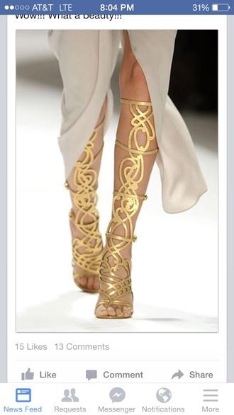 shoes gold swirly designer fashion