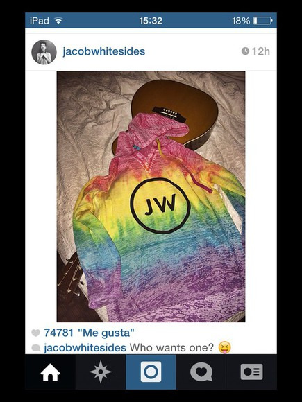 sweater colourful jacob whitesides