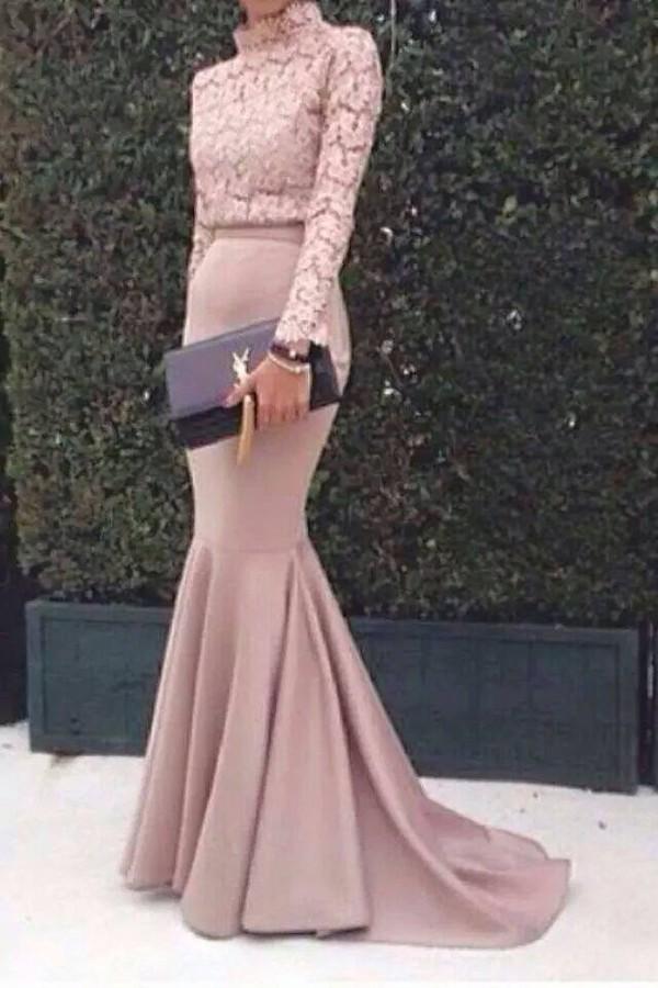 Dress prom dress maxi dress pink dress lace dress for Yves saint laurent wedding dress