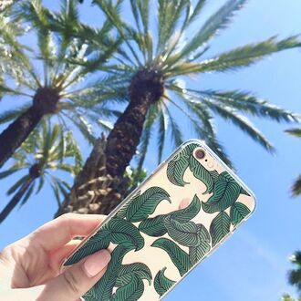 phone cover yeah bunny leaves cute clear sun summer iphone cover iphone case iphone palm tree print