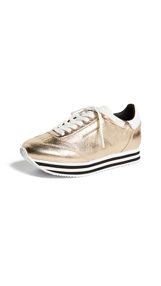 sneakers gold shoes