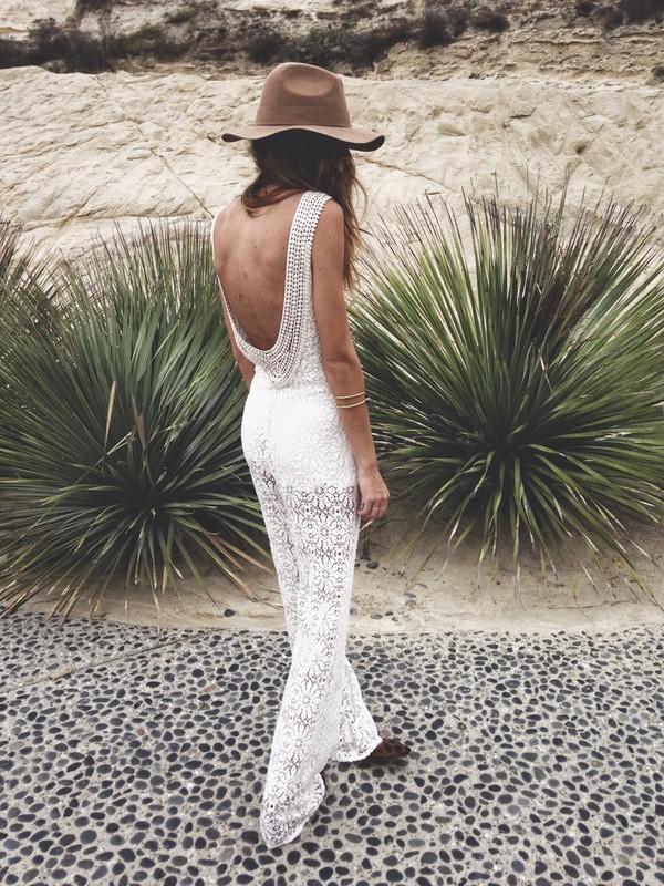 jumpsuit lace white backless jumpsuit