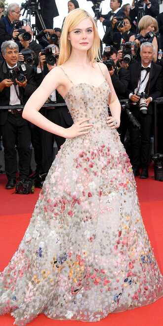 dress elle fanning gown prom dress red carpet dress cannes