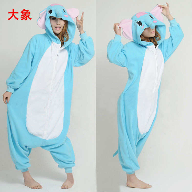 Elephant Animal Onesie Adult UNISEX pajamas romper allinone fancy dress costume