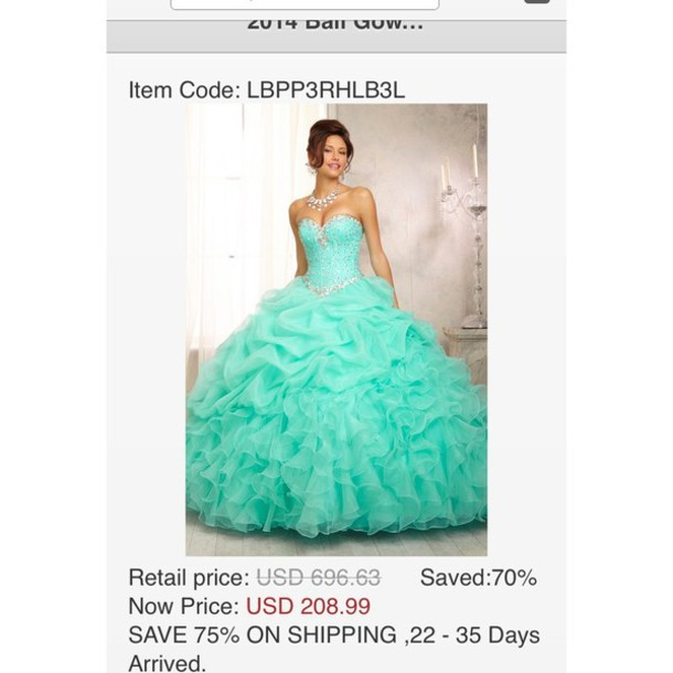 Dress Turquoise Diamonds