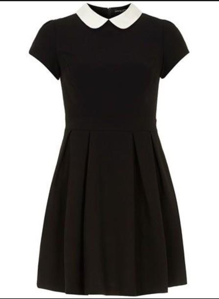 dress collared dress black dress peter pan collar
