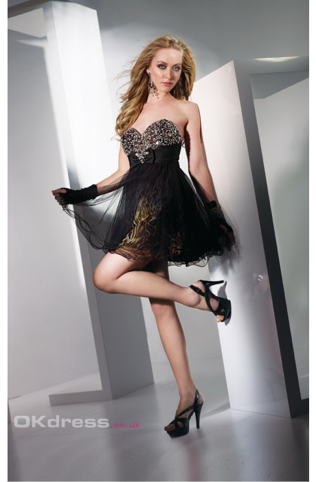 Short/mini sheath/column organza petite formal dresses