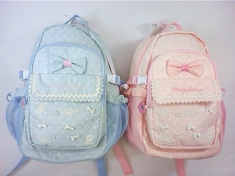 bag light pink baby blue lolita pastel bag pastel goth backpack pastel bow backpack pink blue