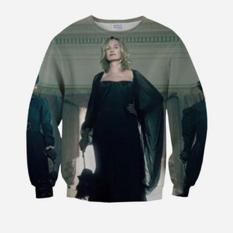 sweater tv show coven fiona goode fiona goode jessica lange american horror story make-up