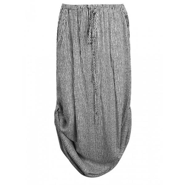 MAXI SKIRT WITH SIDE TABS IN STRIPE - Polyvore
