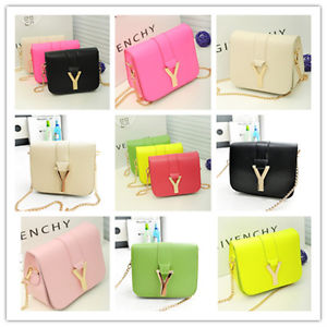 Fashion Women Candy Neon Color PU Leather Mini Crossbody Shoulder Chain Bag | eBay