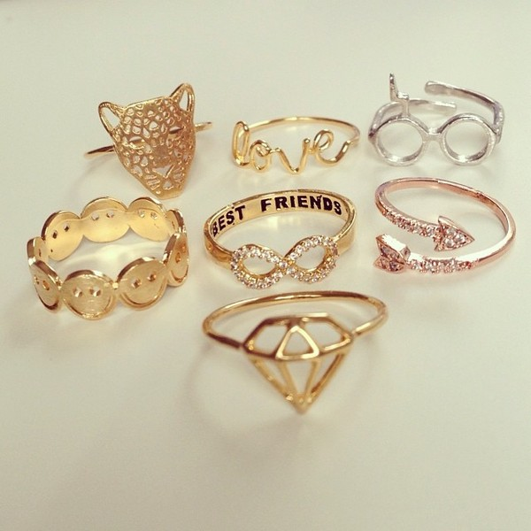 jewels ring gold ring bestfriend ring