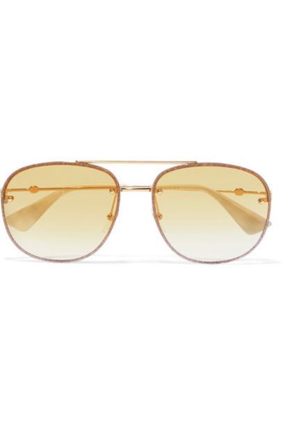 gucci style sunglasses gold