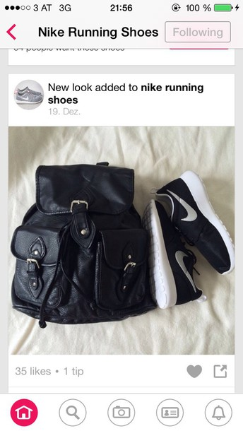 bag black backpack shoes