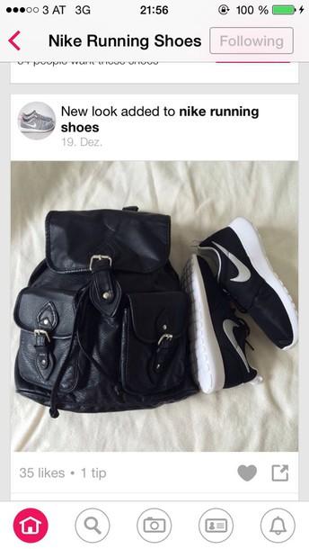bag black backpack shoes