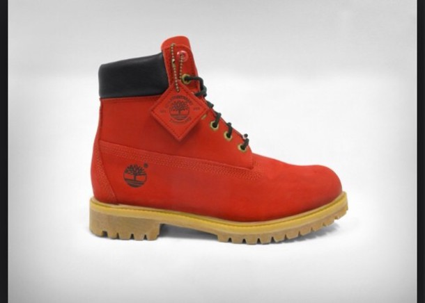 shoes red timberlands boy size 7 timberlands boots