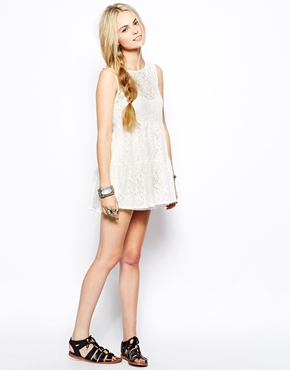 For Love And Lemons   For Love & Lemons Bonnie Lace Dress at ASOS