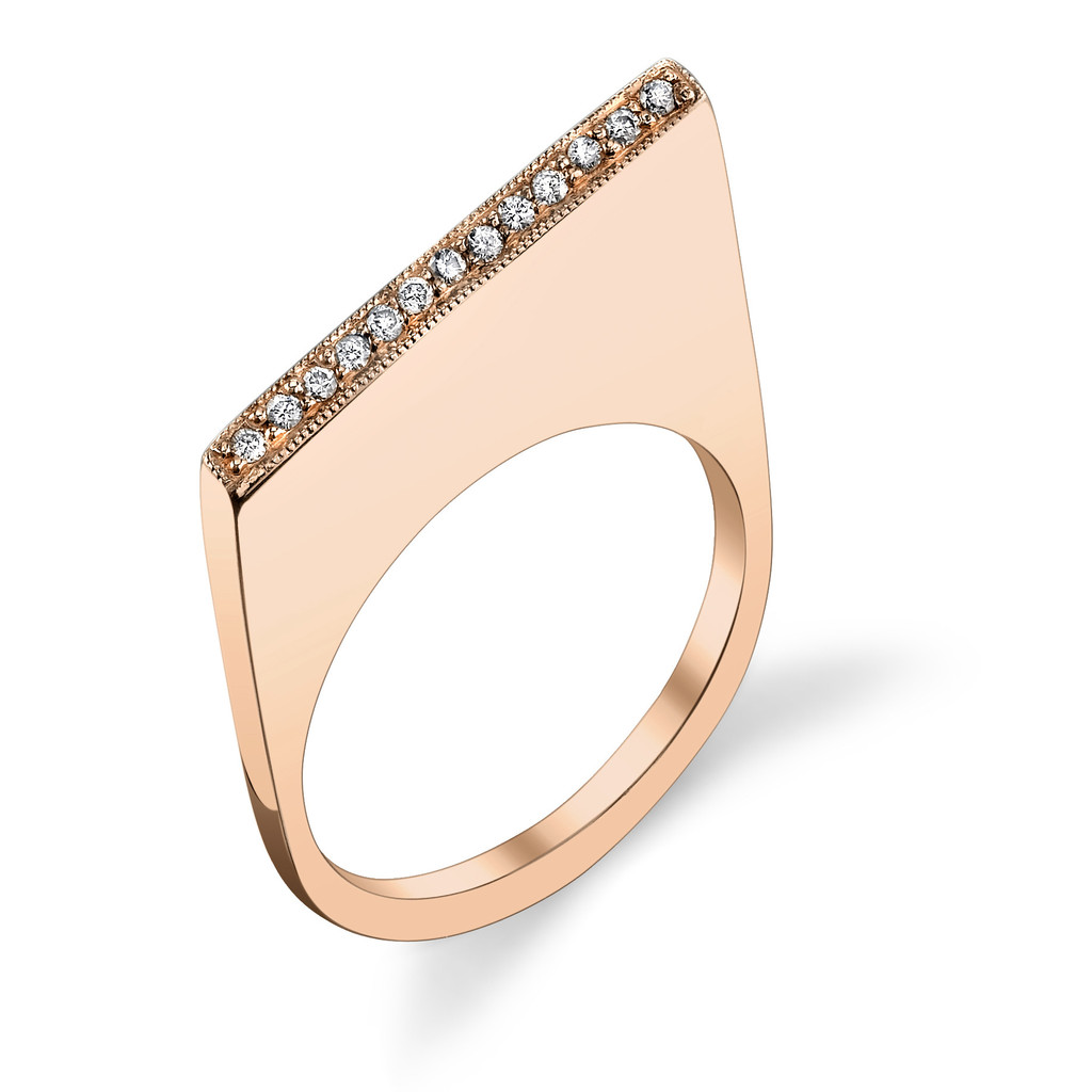 PAVE SHARP SLICE RING - Carrie Hoffman Jewelry